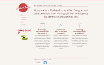 Web Designer Nottingham | Web Developer Nottingham | Mathew Porter Web Design
