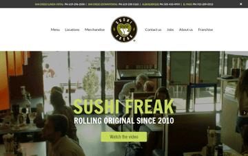 Sushi Freak Web Design