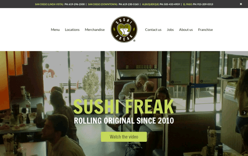 Sushi Freak Web Design