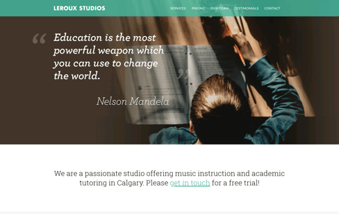 Leroux Music Studios | Calgary Guitar, Piano, Drum, Voice, Banjo, Ukulele, Mandolin, Violin, Fiddle & Trumpet Lessons Web Design