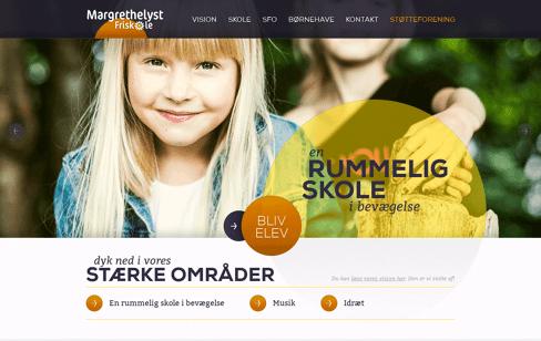 Margrethelyst Friskole Web Design
