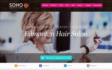 Edmonton Salon | Precision Hair Cutting & Colouring Web Design