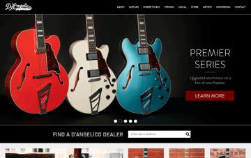 D'Angelico Guitars Web Design