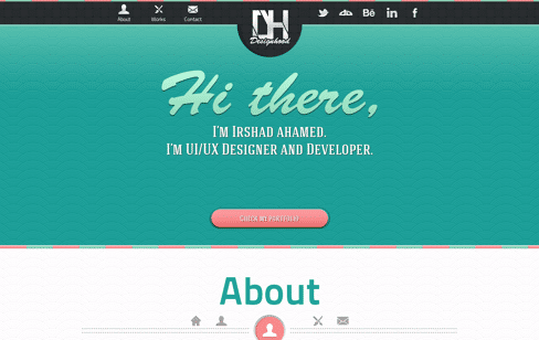 DesignHood - Irshad ahamed. UI/UX Designer and Developer. Web Design