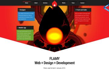 Flamy - Web + Design + Development Web Design