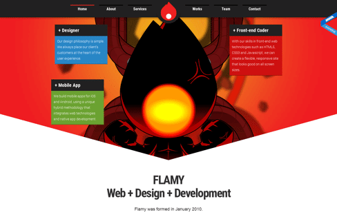 Flamy - Web + Design + Development Web Design