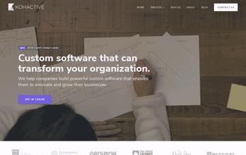 Kohactive, software design and development company Web Design