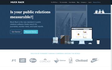 Muck Rack, public relations website Web Design