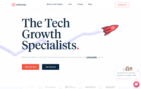 redstamp.com | The Tech Growth Agency  Web Design
