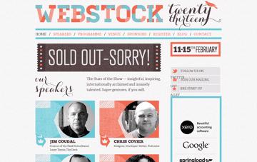 Webstock 2013 Web Design
