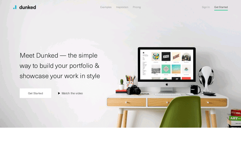 Dunked: Create An Online Portfolio Website Web Design