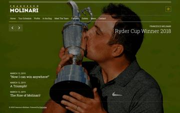 Francesco Molinari - Official Website Web Design