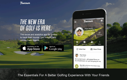 Foursum Golf App Web Design