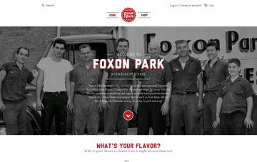 Foxon Park Beverages Web Design