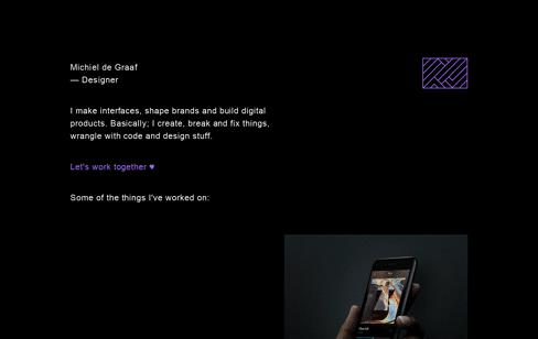 Michiel de Graaf Designer Web Design