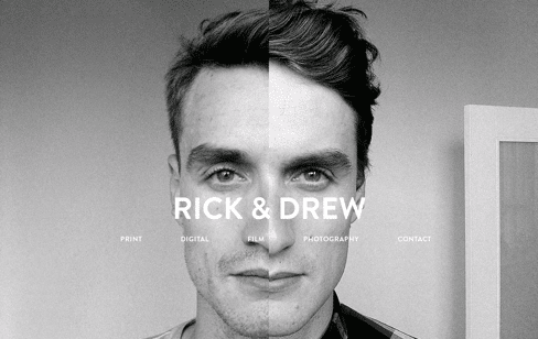 Rick & Drew website Web Design