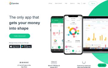 Spendee, Money Manager Budget Planner Web Design