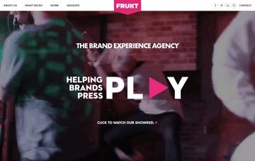 FRUKT agency Web Design