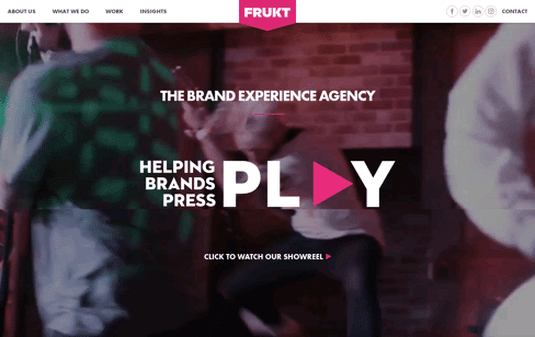 FRUKT agency Web Design