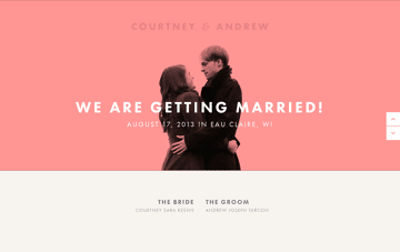 Courtney & Andrew Web Design