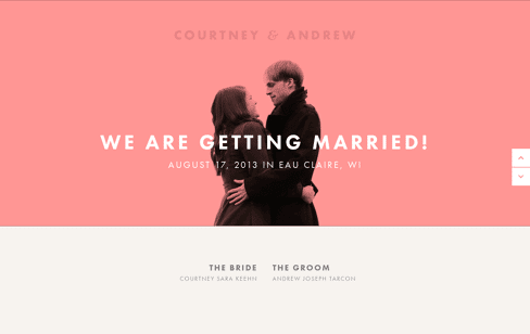 Courtney & Andrew Web Design