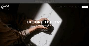 Crema Coffee Brewtique Web Design