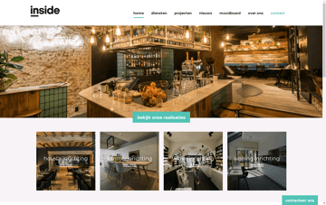 Inside, interior design Web Design