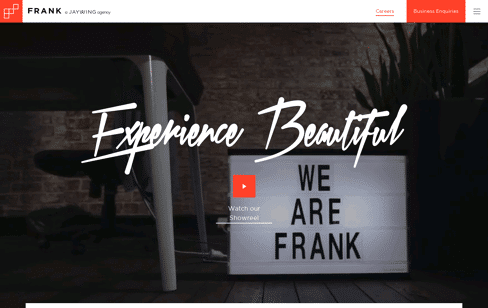 FRANK, Digital Agency Sydney Web Design