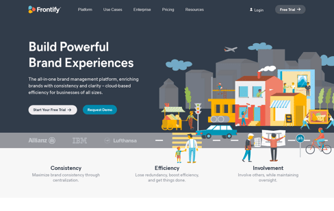 Frontify Brand Management Software Web Design