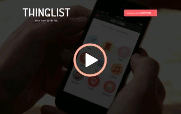 Thinglist Web Design