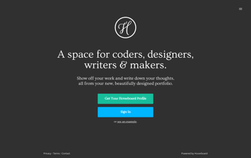Beautiful portfolios for designers & coders Web Design