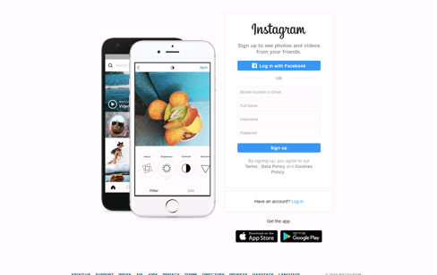 Instagram Web Design