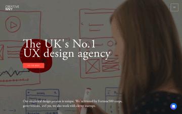 Creative Navy - renowned UX/UI Design Agency Web Design
