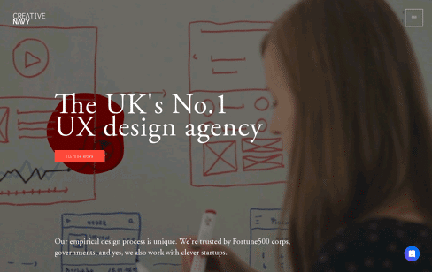 Creative Navy - renowned UX/UI Design Agency Web Design