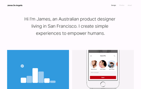 James De Angelis Web Design