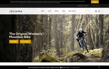 Juliana Bicycles | The Original Women's Mountain Bike Web Design