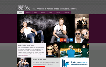 Lissat & Voltaxx Web Design