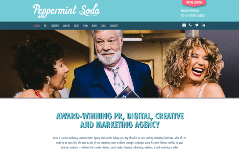 Peppermint Soda: Creative and PR Agency Web Design