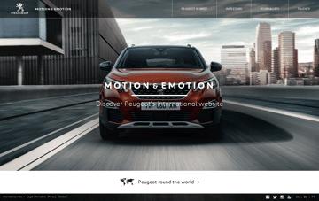 Peugeot international - Motion & Emotion Web Design