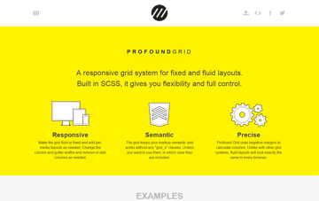Profound Grid | A grid system for fixed and fluid layouts Web Design