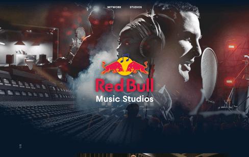 Red Bull Music Studios Network Web Design