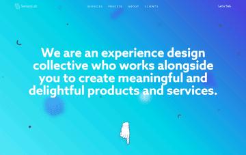 SensesLab, Experience Design Collective Web Design