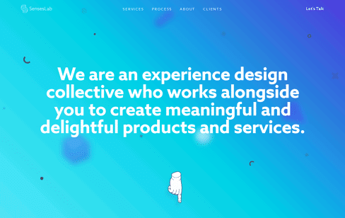 SensesLab, Experience Design Collective Web Design