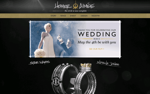Homer & Aimée Are Getting Married Web Design