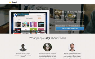 Creonomy Board: your inspiration folder Web Design