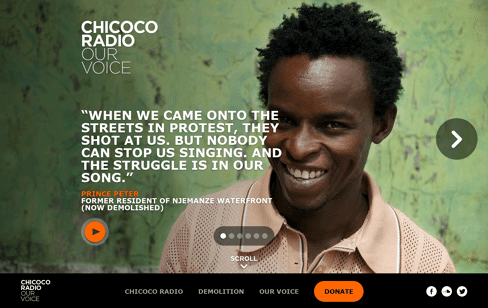 Chicoco Radio Web Design