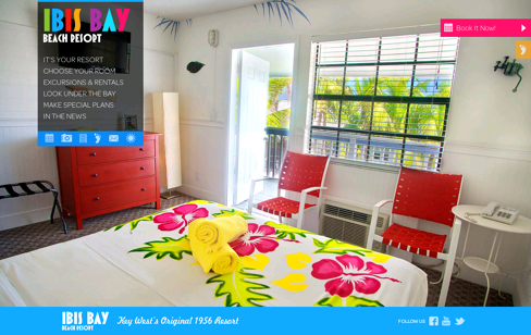 Ibis Bay Beach Resort Web Design