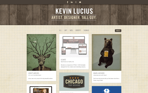 The Work of Kevin Lucius Web Design