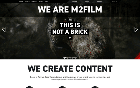 M2Film Production Company Web Design