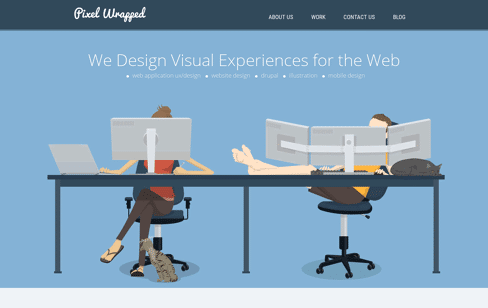 Pixel Wrapped Agency Web Design